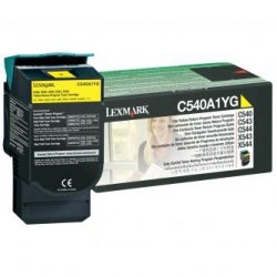 Lexmark oryginalny toner C540A1YG. yellow. 1000s. return. Lexmark C540. X543. X544. X543. X544 C540A1YG