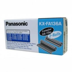 Panasonic oryginalna folia do faxu KX-FA136A/E. 2*100m. Panasonic Fax KX-F 1810. KX-FP 151. 152. 245. KXFM 205. 220