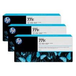 HP oryginalny wkład atramentowy / tusz B6Y38A. No.771C. light grey. 3szt. HP Designjet Z6200