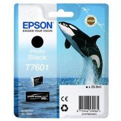 Epson oryginalny wkład atramentowy / tusz C13T76014010. T7601. photo black. 25.9ml. 1szt. Epson SureColor SC-P600