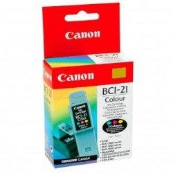 Canon oryginalny wkład atramentowy / tusz BCI21C. color. 120s. 0955A351. blistr. Canon BJ-C4000. 2000. 4100. 4400. 4650. 5500
