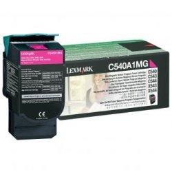 Lexmark oryginalny toner C540A1MG. magenta. 1000s. Lexmark C540. X543. X544. X543. X544 C540A1MG
