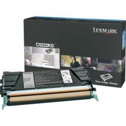 Lexmark oryginalny toner C5222KS. black. 4000s. Lexmark C52x. C53x C5222KS