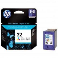HP oryginalny wkład atramentowy / tusz C9352AE. No.22. color. 138s. 5ml. HP PSC-1410. DeskJet F380. D2300. OJ-4300. 5600
