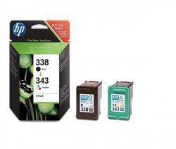 HP oryginalny wkład atramentowy / tusz 338/343 Combo-pack Inkjet Print Cartr
