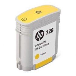 HP oryginalny wkład atramentowy / tusz F9J61A. No.728. yellow. 40ml. HP DesignJet T730. DesignJet T830. DesignJet T830 MFP