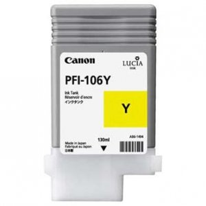 Canon oryginalny wkład atramentowy / tusz PFI106Y. yellow. 130ml. 6624B001. ploter iPF-6300 6624B001