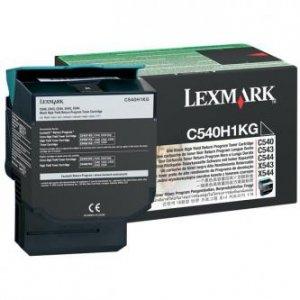 Lexmark oryginalny toner C540H1KG. black. 2500s. return. high capacity. Lexmark C540. X543. X544. X543. X544 C540H1KG