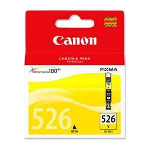 Canon oryginalny wkład atramentowy / tusz CLI526Y. yellow. 9ml. 4543B006. blistr z ochroną. Canon Pixma  MG5150. MG5250. MG6150. MG8150 4543B006