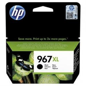 HP oryginalny ink 3JA31AE, HP 967, black, 3000s, 68.7ml, extra high capacity, HP Officejet Pro 9010, 9012, 9014, 9015, 9016, 9019/ 3JA31AE