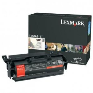 Lexmark oryginalny toner T650A21E. black. 7000s. Lexmark T650DN T650A21E