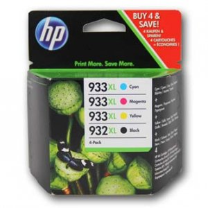 HP oryginalny wkład atramentowy / tusz C2P42AE. No.932XL + 933XL. cyan/magenta/yellow/black. 825/1000s. 4szt. HP C2P42AE