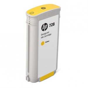 HP oryginalny wkład atramentowy / tusz F9J65A. No.728. yellow. 130ml. HP DesignJet T730. DesignJet T830. DesignJet T830 MFP F9J65A