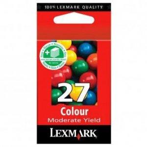 Lexmark oryginalny wkład atramentowy / tusz 10NX227E. #27+. color. 160s. Lexmark Z13. Z23. Z33. Z25. Z35 10NX227E