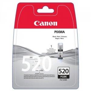 Canon oryginalny wkład atramentowy / tusz PGI520BK. black. 19ml. 2932B011. 2932B005. blistr z ochroną. Canon iP3600. 4600. MP620. 630. 980 2932B011