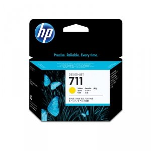 HP oryginalny wkład atramentowy / tusz CZ136A. No.711. yellow. 3ž29ml. HP Designjet T120, T125, T130, T520, T525, T530 CZ136A