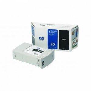 HP oryginalny wkład atramentowy / tusz C4871A. No.80. black. 350ml. HP DesignJet 1050. C. 1055. C. CM C4871A
