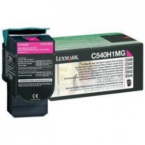 Lexmark oryginalny toner C540H1MG. magenta. 2000s. return. high capacity. Lexmark C540. X543. X544. X543. X544 C540H1MG