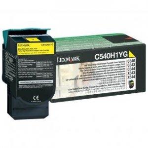 Lexmark oryginalny toner C540H1YG. yellow. 2000s. return. high capacity. Lexmark C540. X543. X544. X543. X544 C540H1YG