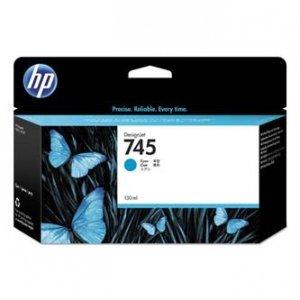 HP oryginalny wkład atramentowy / tusz F9J97A, No. 745, cyan, 130ml, HP DesignJet HD Pro MFP, DesignJet Z2600, Z5600 F9J97A