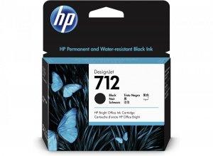 HP Tusz 712 80-ml Black DesignJet Ink