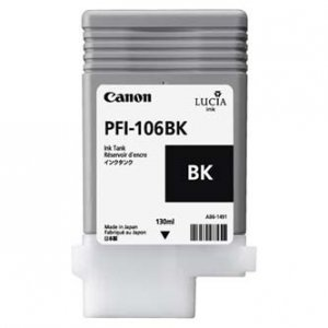 Canon oryginalny wkład atramentowy / tusz PFI106BK. black. 130ml. 6621B001. ploter iPF-6300 6621B001