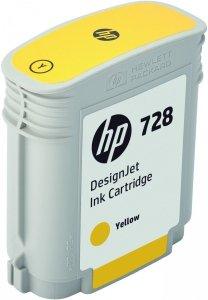 HP 728 Yellow 40ml. oryginalny wkład atramentowy / tusz do plotera Designjet T730/T830 żółty F9J61A