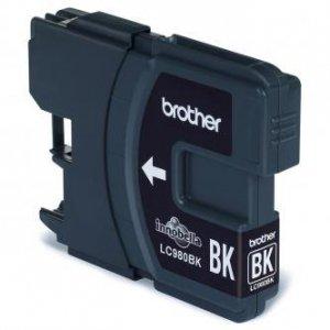 Brother oryginalny wkład atramentowy / tusz LC-980BK. black. 300s. Brother DCP-145C. 165C LC980BK
