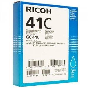 Ricoh oryginalny żelowe wypełnienie 405762. cyan. 2200s. GC41HC. Ricoh AFICIO SG 2100N 405762