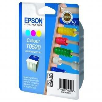 Epson oryginalny wkład atramentowy / tusz C13T052040. color. 300s. 35ml. Epson Stylus Color 460. 670. 760. 860. 1160. 152
