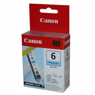 Canon oryginalny wkład atramentowy / tusz BCI6PC. photo cyan. 4709A002. Canon S800. 820D. 830D. 900. 9000. i950 4709A002