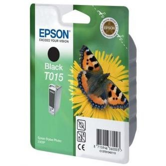 Epson oryginalny wkład atramentowy / tusz C13T015401. black. 350s. 15ml. Epson Stylus Photo 2000p C13T01540110