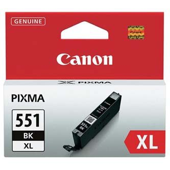 Canon oryginalny wkład atramentowy / tusz CLI551BK XL. black. 11ml. 6443B001. high capacity. Canon PIXMA iP7250. MG5450. MG6350 6443B001