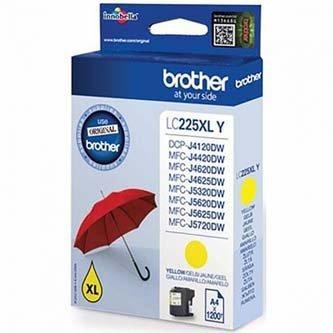 Brother oryginalny wkład atramentowy / tusz Cart/yel high cap MFC-J4620/5620/5720DW LC225XLY