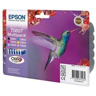 Epson oryginalny wkład atramentowy / tusz C13T08074011. CMYK/light C/light M. Epson Stylus Photo PX700W C13T08074011
