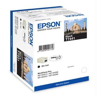 Epson oryginalny wkład atramentowy / tusz C13T74414010. black. 10000s. 181ml. high capacity. Epson WorkForce Pro WP-M4525 DNF. WP-M4015 DN C13T74414010