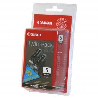 Canon oryginalny wkład atramentowy / tusz PGI5BK. black. 0628B025. 0628B030. 2szt. Canon iP3300. 3500. 4200. 4300. 4500. 5200R 0628B030