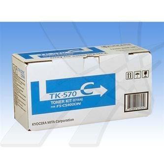 Kyocera Mita oryginalny toner TK570C. cyan. 12000s. Kyocera Mita FS-C 5400DN 1T02HGCEU0