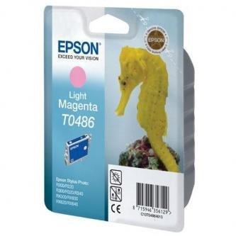 Epson oryginalny wkład atramentowy / tusz C13T048640. light magenta. 430s. 13ml. Epson Stylus Photo R200. 220. 300. 320. 340. RX500. 600