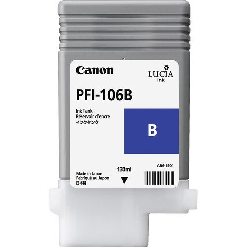 Canon oryginalny wkład atramentowy / tusz PFI106B. blue. 130ml. 6629B001. ploter iPF-6300