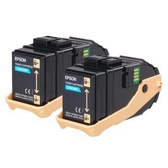 Epson oryginalny toner C13S050608. cyan. 15000s. Epson Aculaser C9300N. Dual pack dwupack C13S050608
