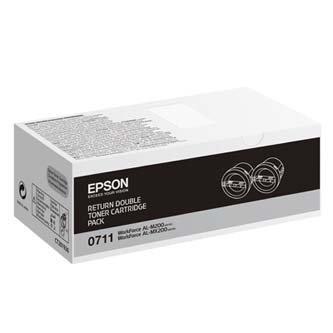 Epson oryginalny toner C13S050711. black. 2x2500s. return. Epson AcuLaser M200. MX200 C13S050711