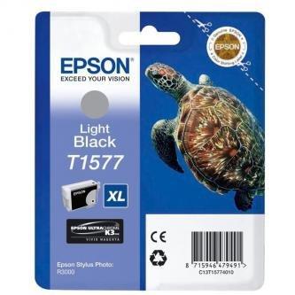 Epson oryginalny wkład atramentowy / tusz C13T15774010. light black. 25.9ml. Epson Stylus Photo R3000