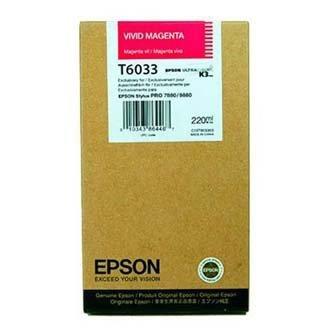 Epson oryginalny wkład atramentowy / tusz C13T603300. vivid magenta. 220ml. Epson Stylus Pro 7800. 9800