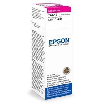 Epson oryginalny wkład atramentowy / tusz C13T66434A. magenta. 70ml. Epson L100. L200. L300 C13T66434A