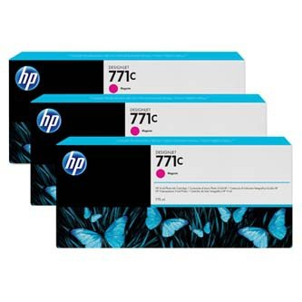 HP oryginalny wkład atramentowy / tusz B6Y33A. No.771C. magenta. 3szt. HP Designjet Z6200 B6Y33A