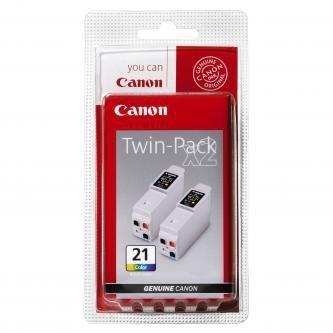 Canon oryginalny wkład atramentowy / tusz BCI21C. color. 2x120s. 0955A357. blistr. 2szt. Canon BJ-C4000. 2000. 4100. 4400. 4650. 5500