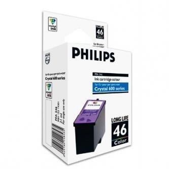 Philips oryginalny wkład atramentowy / tusz PFA 546. color. 1000s. high capacity. Philips Crystal 650. 660. 665. 680 PFA 546