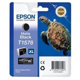 Epson oryginalny wkład atramentowy / tusz C13T15784010. matte black. 25.9ml. Epson Stylus Photo R3000 C13T15784010
