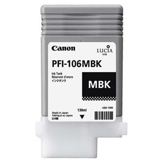 Canon oryginalny wkład atramentowy / tusz PFI106MBk. matte black. 130ml. 6620B001. ploter iPF-6300 6620B001